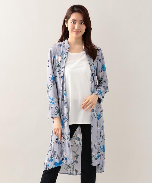 【ウォッシャブル】ボタニカルフラワーロング2WAYドレス