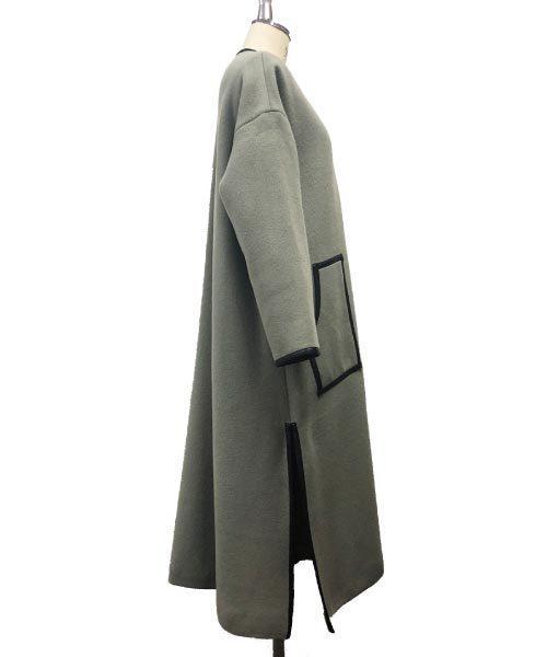 リーニヤパイピングコート(ノーカラー)