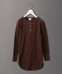 <Robert.P.Miller×6(ROKU)>BORDER WAFFLE HENLY NECK PULLOVER/カットソー Ψ