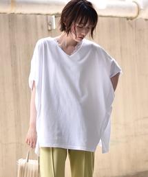 RETRO GIRLチャリティTシャツ/2WAYドルマントップスオフホワイト