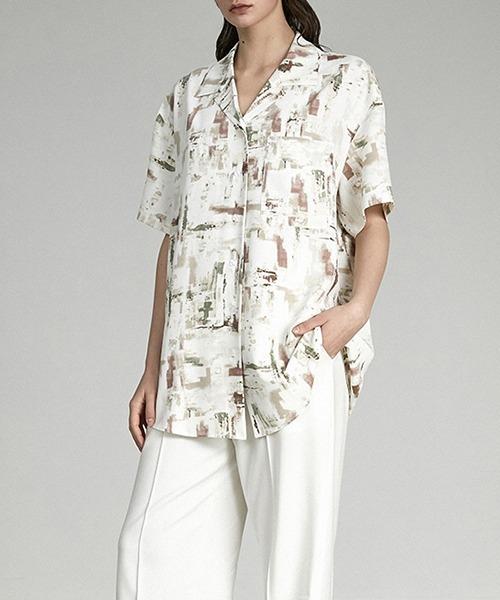 【UNSPOKEN】Art pattern shirt UX21S059