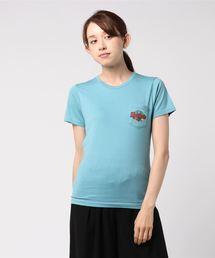 HYS MOTELプリントポケ付Tシャツ