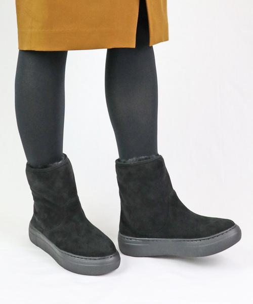 MODE KAORI(モードカオリ)の「ボリュームシルエットショートブーツ(ブーツ)」|ブラック