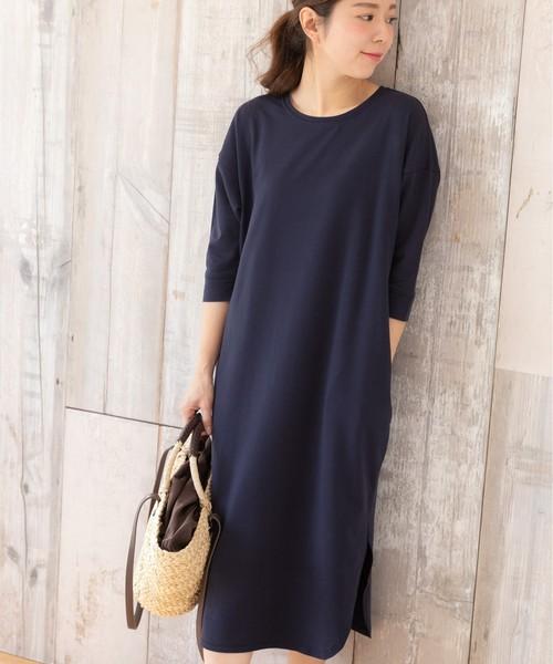 スウェット Tシャツ ワンピース(ミニ裏毛)