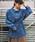 tiptop(ティップトップ)の「ウェストドロストコーデュロイシャツ(シャツ/ブラウス)」|ブルー