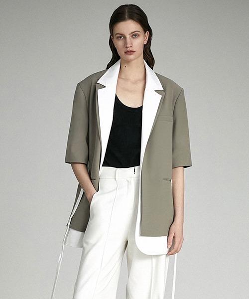 【UNSPOKEN】Layered jacket UX21W013