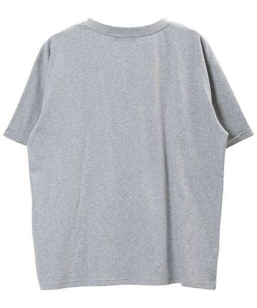 ビッグ シルエット クルーネック ロゴTシャツ