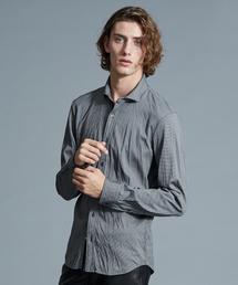 5351 POUR LES HOMMES(ゴーサンゴーイチプールオム)のハウンドトゥースジャージーシャツ(シャツ/ブラウス)