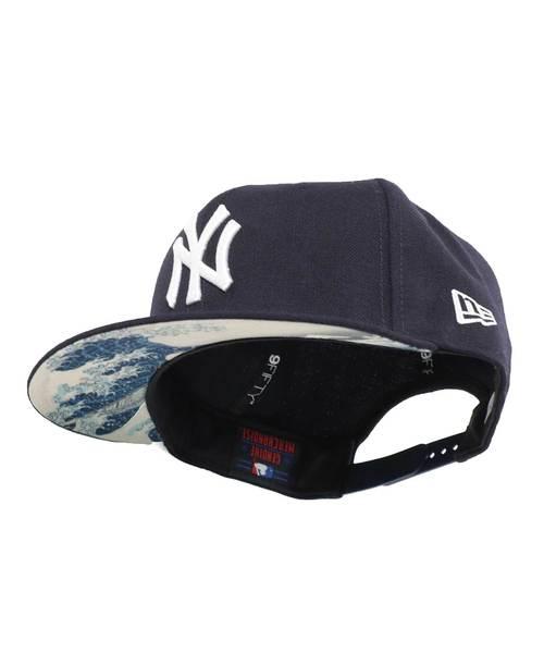 NEWERA  캡 스냅 백 9FIFTY 우키요에 가츠시카 호쿠사이 MLB 뉴욕 양키스 네이비 NEW ERA