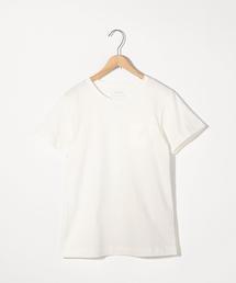 【汗染み防止】クルーネックポケットTシャツ