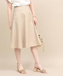 ROPE' mademoiselle(ロペマドモアゼル)のハイウエストパネルサーキュラースカート(スカート)