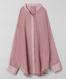 JEANASIS(ジーナシス)のシアーバンドカラーシャツ/848152(シャツ/ブラウス)