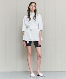 <H>TYPEWRITER CLOTH HIGH NECK BLOUSE/ブラウス