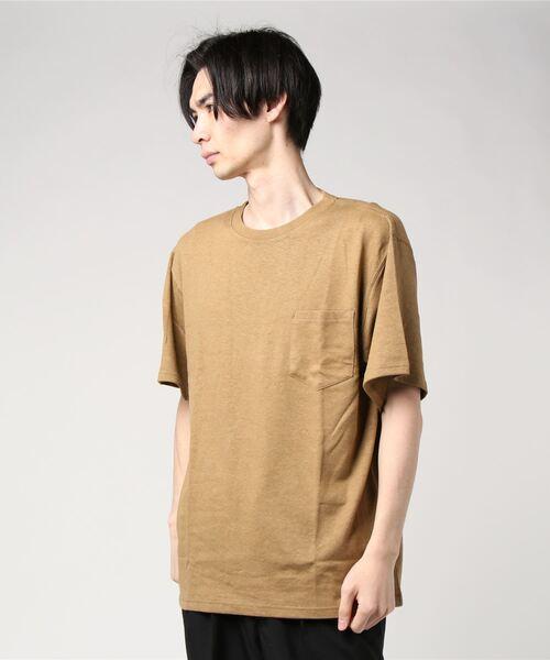 2021年5月12日発売 lala begin 7,8月号 016P 掲載【 Goodwear / グッドウェア 】レギュラーフィット 半袖クルーネックポケットTシャツ ヘンプコットン