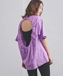<TOGA PULLA(トーガ プルラ)>バックオープン Tシャツ