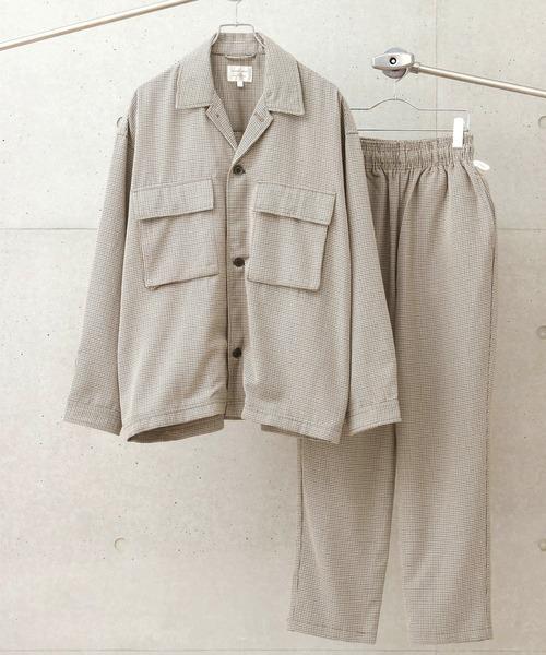 オーバーサイズ CPOダブルポケットシャツ ジャケット&シェフパンツ【セットアップ】