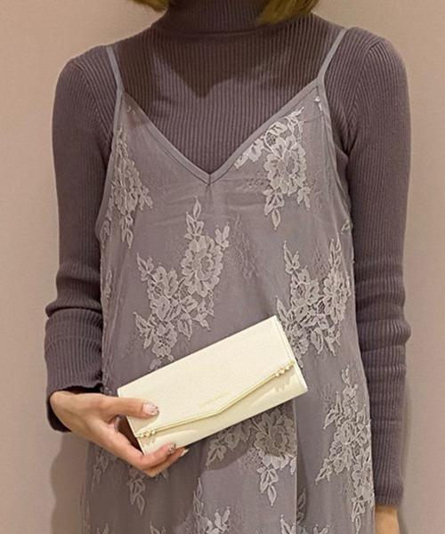 Samantha Thavasa(サマンサタバサ)の「ストーンバー 長財布【3年保証対象】(財布)」|オフホワイト