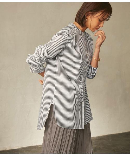 【21SS】ハイパワーブロードボザムチュニックノーカラーシャツ
