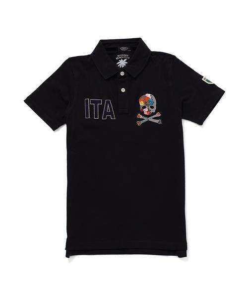 【PAZZO】 ポロシャツ ITA スカル