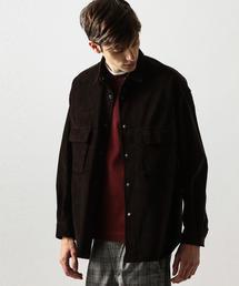 by コーデュロイ 2ポケット オーバーサイズ シャツ ◆