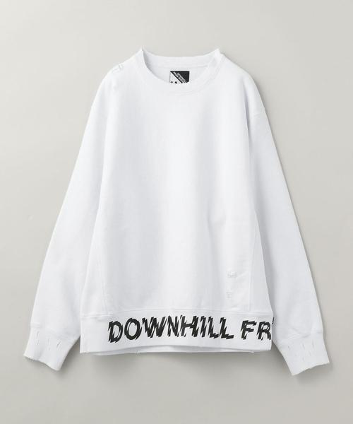 ▲HUF × UNITED ARROWS & SONS DOWNHILL-2 DAMAGE CREW SWEAT