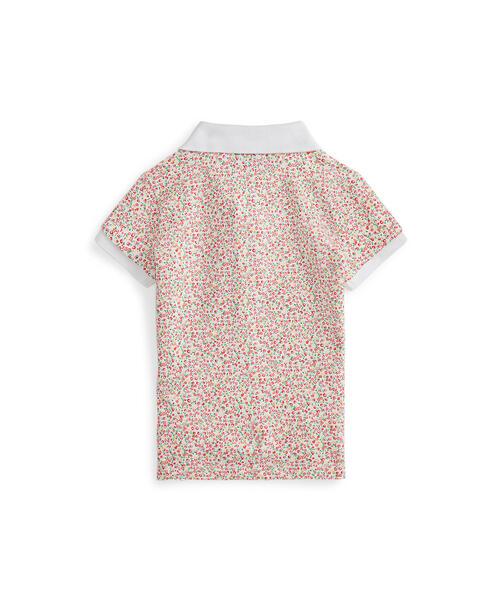 Polo Ralph Lauren Childrenswear(ポロラルフローレンチャイルドウェア)の「フローラル ストレッチ メッシュ ポロシャツ(ポロシャツ)」 詳細画像