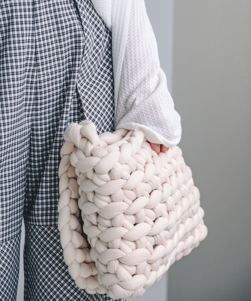 【chuclla】Wool crossbody crochet bag cha21a005