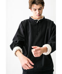 <monkey time> BACK SHAGGY PULLOVER STAND/スウェット