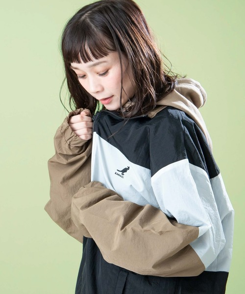 ▽WEB限定 KANGOL/カンゴール 別注 切替ナイロンビッグジャケット