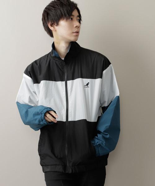 ▽WEB限定 KANGOL/カンゴール 別注 撥水/防水 切替ナイロンビッグジャケット