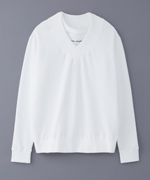 DRESSEDUNDRESSED(ドレスドアンドレスド)のDRESSEDUNDRESSED Layered Collegiate Decortique V-Neck Sweater (DUW19052)(Tシャツ/カットソー)