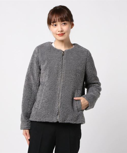 【30%OFF】 eco fur three l/s short l/s coat(ノーカラージャケット) dots|three dots(スリードッツ)のファッション通販, 大須賀町:e767ad43 --- steuergraefe.de