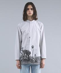 CHRISTIAN DADA(クリスチャンダダ)のARAKI Print Stand Collar Stripe Shirt(シャツ/ブラウス)