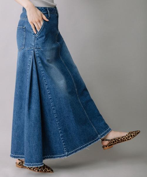 Munich(ミューニック)の「12ozデニムマキシスカート(デニムスカート)」|ブルー