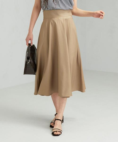 CS スラブ フレア スカート