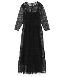 Lily Brown(リリーブラウン)のチュールレースドレス(ワンピース)