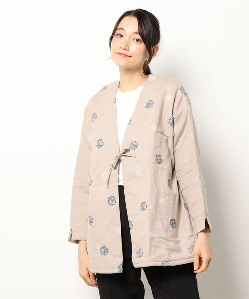 【 Kimama / きまま 】 ドット刺繍 キツネノモリ JACKET
