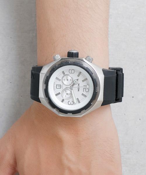 NIXON(ニクソン)の「THE STEELCAT(腕時計)」|ホワイト