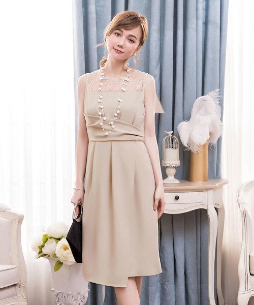 fff844d83ad059 【セール】クロス切替レースパーティードレス(ドレス)|DRESS STAR(ドレス スター)のファッション通販 - ZOZOTOWN