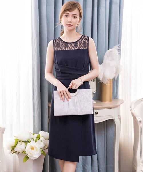 bbbc49c5eb0f7e DRESS STAR(ドレス スター)の「クロス切替レースパーティードレス(ドレス)