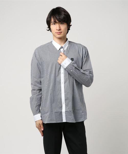 フラワーポイントシャツ