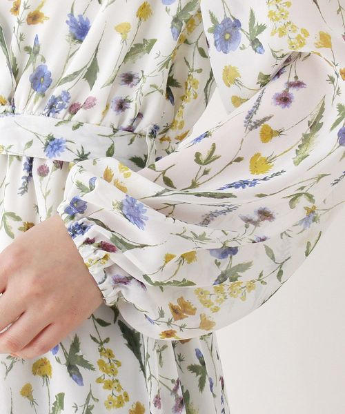 花柄カシュクールワンピース