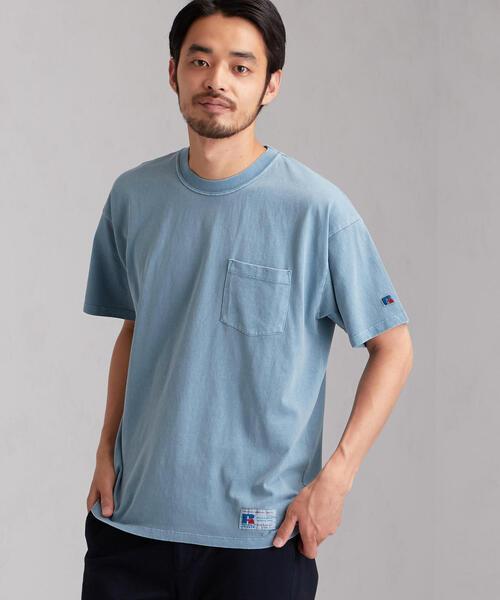 [ラッセルアスレチック]SC RUSSELL PIG ポケット Tシャツ