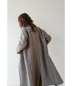 クラネ CLANE / ミックスチェックステンカラーコート MIX CHECK SOUTIEN COLLAR COAT