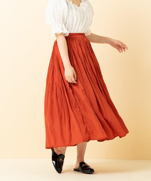 シャインランダムプリーツスカート