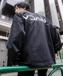 RVCA(ルーカ)の▽RVCA/ルーカ PATCH RCVA LS TEE/ビッグシルエットパッチロゴロンT/袖プリント/バックプリント(Tシャツ/カットソー)