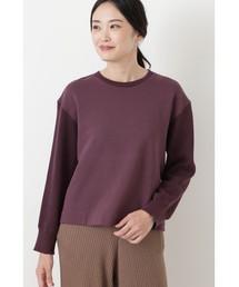 HUMAN WOMAN(ヒューマンウーマン)の裏毛ニットドッキングプルオーバー(Tシャツ/カットソー)