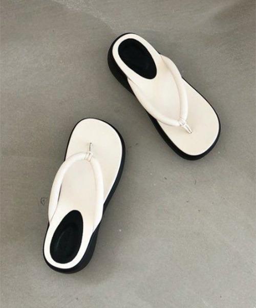 【chuclla】【2021/SS】Platform tong sandal chs129