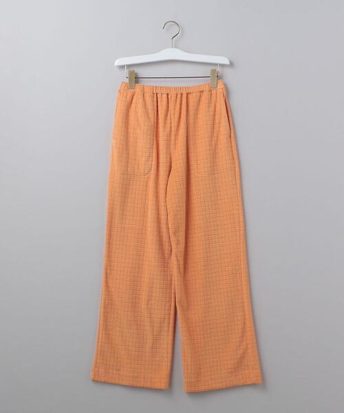 <6(ROKU)>BLOCK PILE PANTS/パンツ