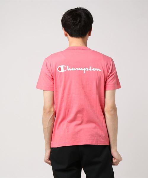 【CHAMPION】ジーンズメイト別注 バックスクリプトロゴTシャツ